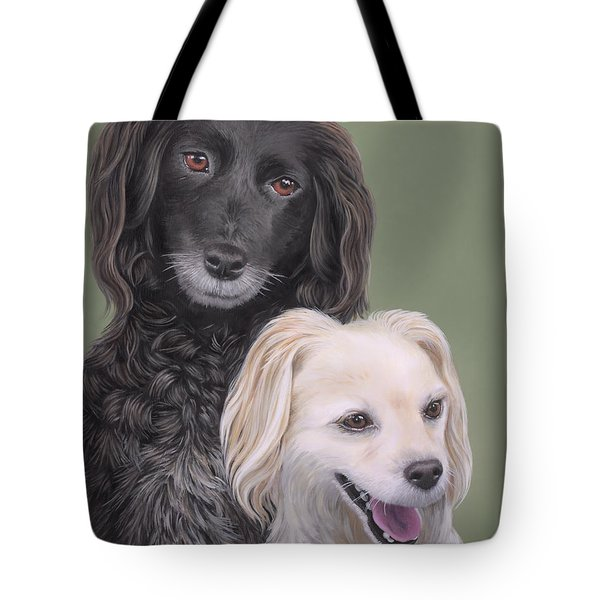 Tote Bag featuring the painting Brea And Randy by Jane Girardot