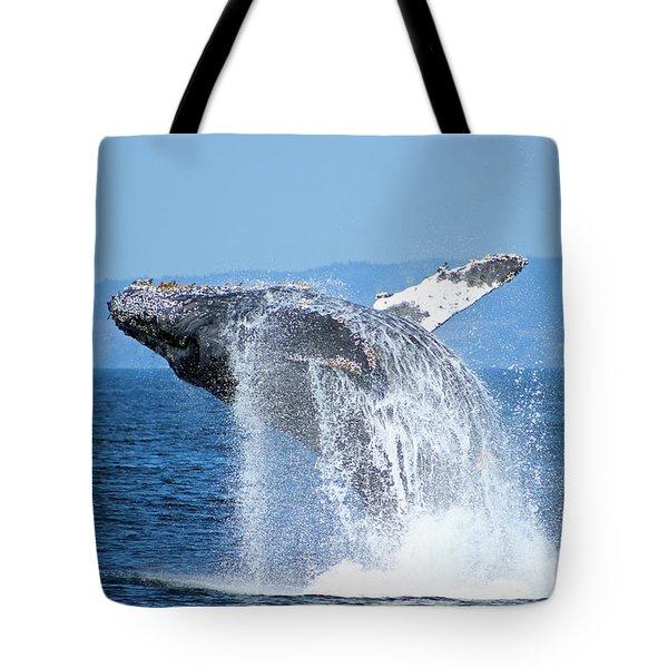 Breaching Humpback Tote Bag