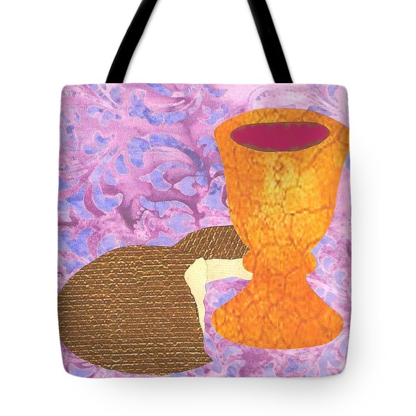 Bread And Cup Tote Bag
