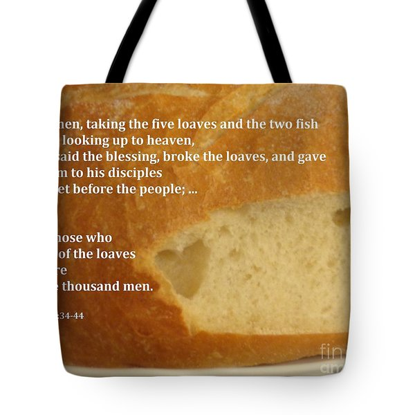 Bread  From The Heart Tote Bag by Christina Verdgeline
