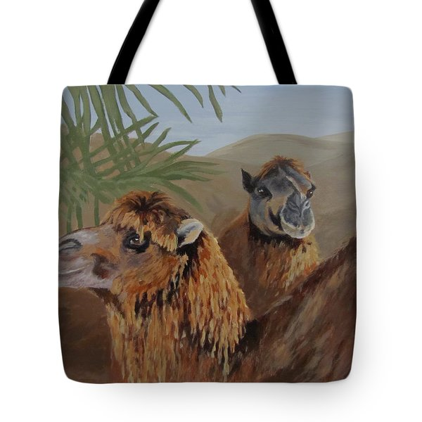 Tote Bag featuring the painting Break Time by Karen Ilari