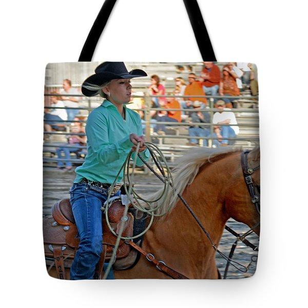 Breakaway Roping Gal Tote Bag