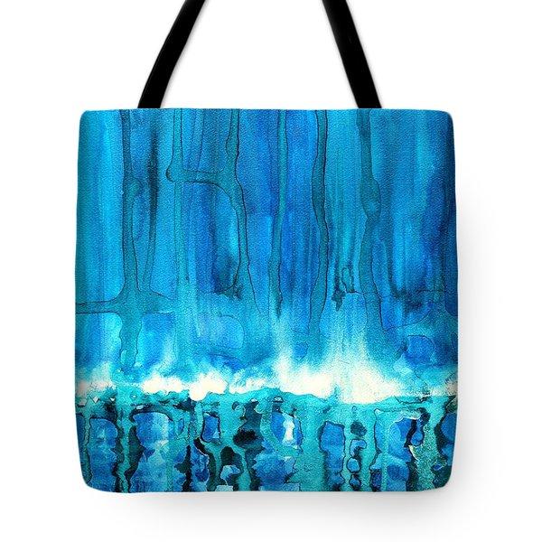 Breakers Off Point Reyes Original Painting Tote Bag by Sol Luckman