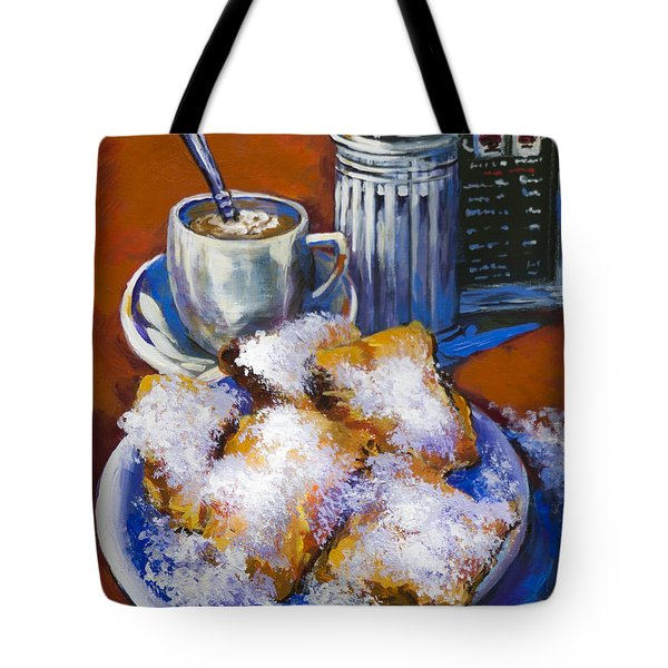 Tote Bag featuring the painting Breakfast At Cafe Du Monde by Dianne Parks