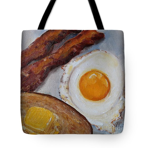Breakfast Bacon Egg And Toast Tote Bag