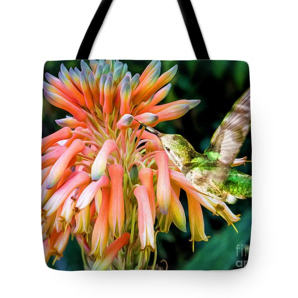 Breakfast For A Hummer Tote Bag