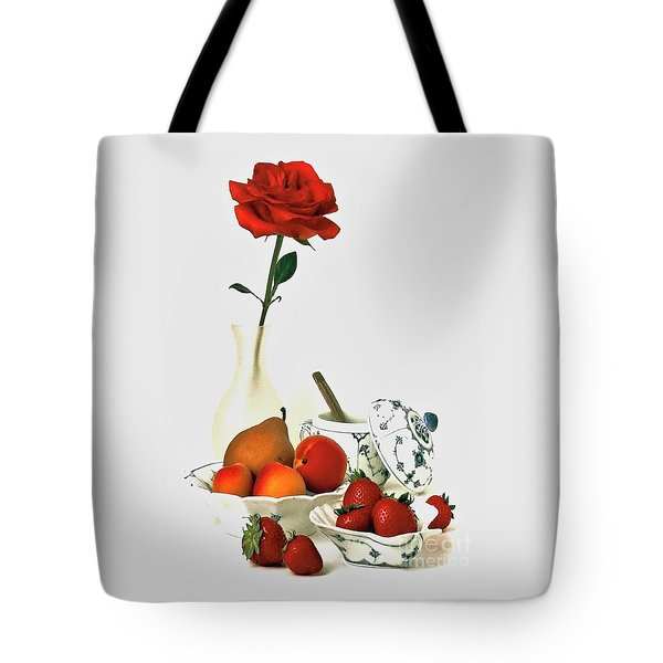 Breakfast For Lovers Tote Bag by Elf Evans