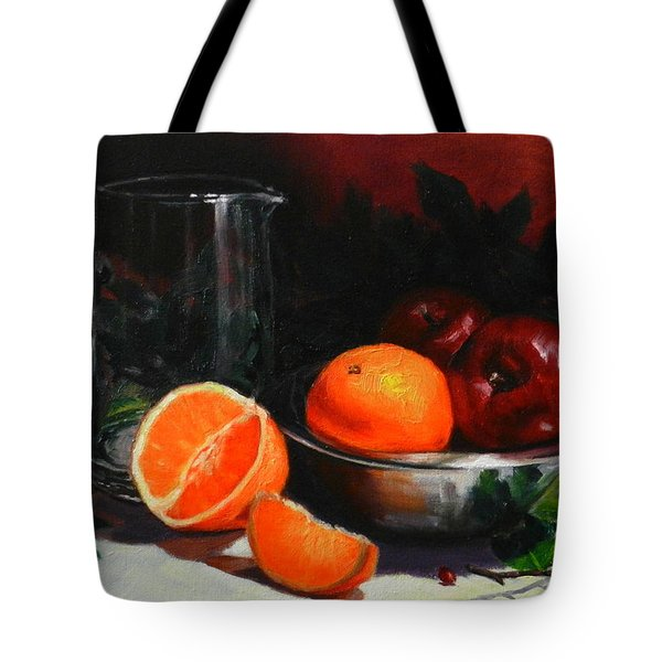 Breakfast Fruits Tote Bag