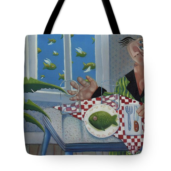 Breakfast In Barbados 1989 Tote Bag by Larry Preston
