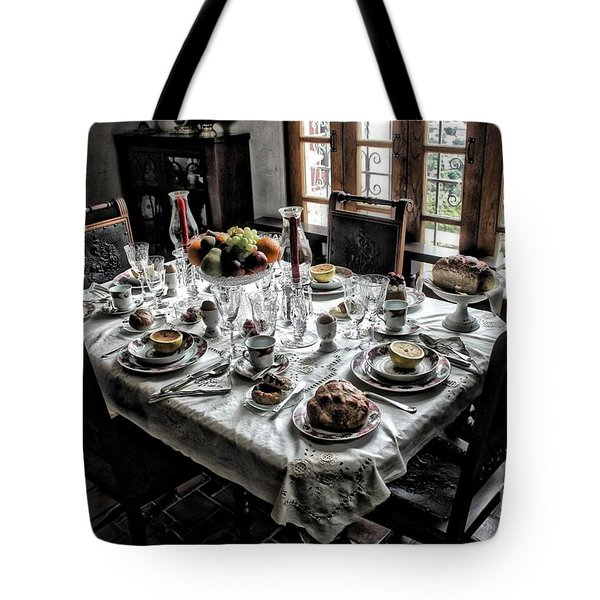 Downton Abbey Breakfast Tote Bag by The Art of Alice Terrill