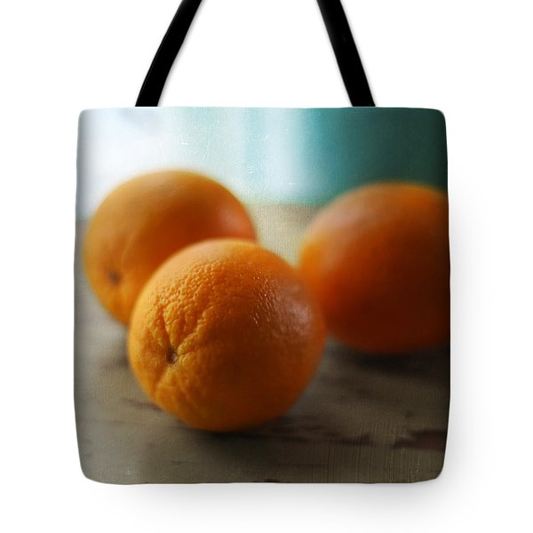Breakfast Oranges Tote Bag by Amy Tyler