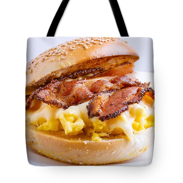 Breakfast Sandwich Tote Bag by Edward Fielding