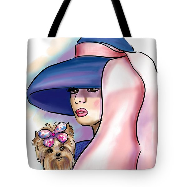 Breakfast With Yorkie Tote Bag by Catia Cho