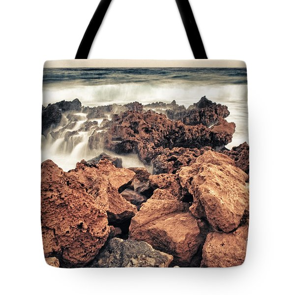 Breaking The Waves Tote Bag by Stelios Kleanthous