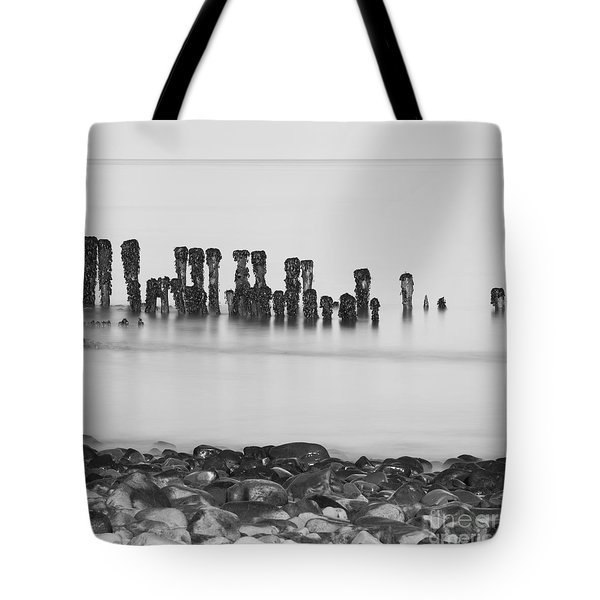 Breakwater Squared Tote Bag by Anne Gilbert