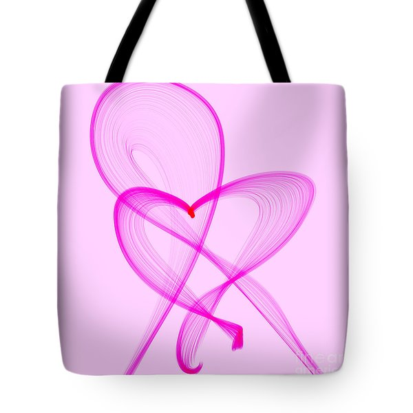 Breast Cancer Awareness . Love Tote Bag by Renee Trenholm