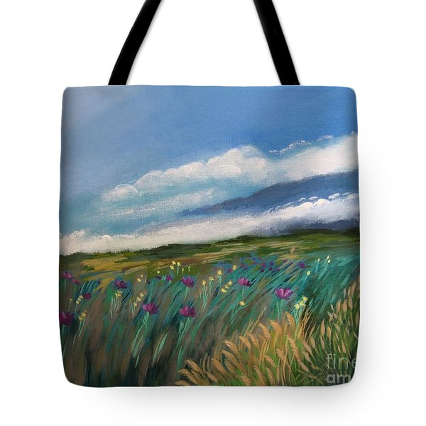 Breezy Day At Mauna Kea Tote Bag