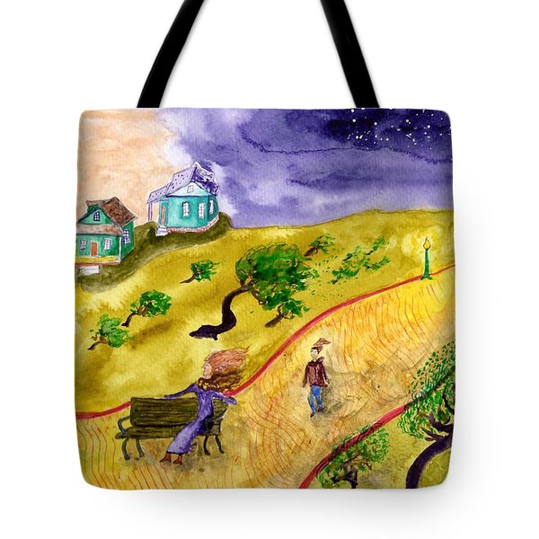 Breezy Dusk In The Park Tote Bag