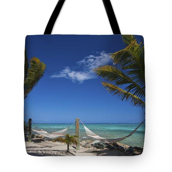 Breezy Island Life Tote Bag by Adam Romanowicz