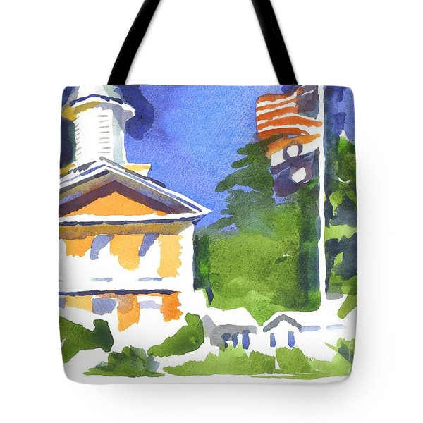 Breezy Morning At The Courthouse Tote Bag by Kip DeVore