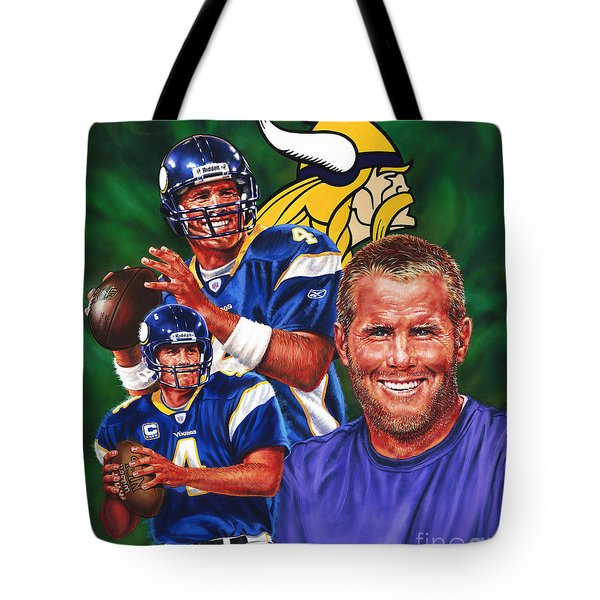 Bret Favre Tote Bag