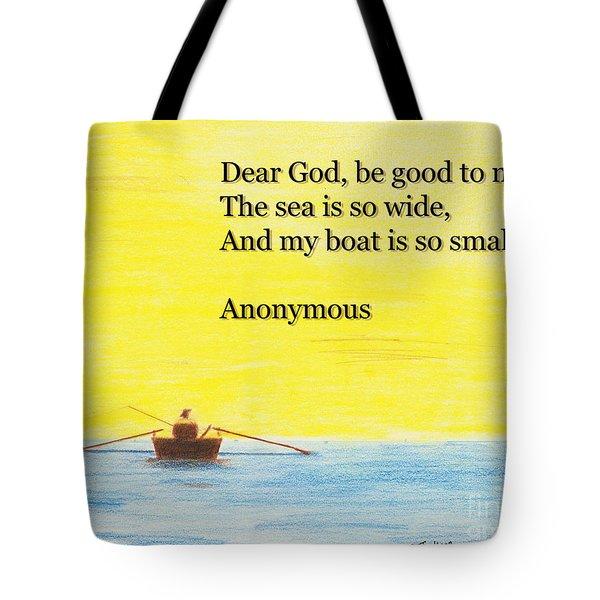 Breton Fisherman's Prayer Tote Bag