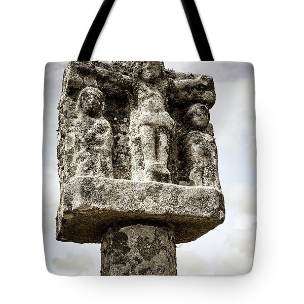Breton Stone Cross Tote Bag by Elena Elisseeva