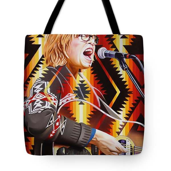 Tote Bag featuring the painting Brett Dennen by Joshua Morton