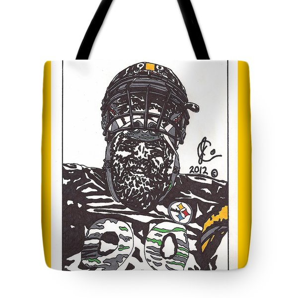 Brett Keisel 2 Tote Bag by Jeremiah Colley