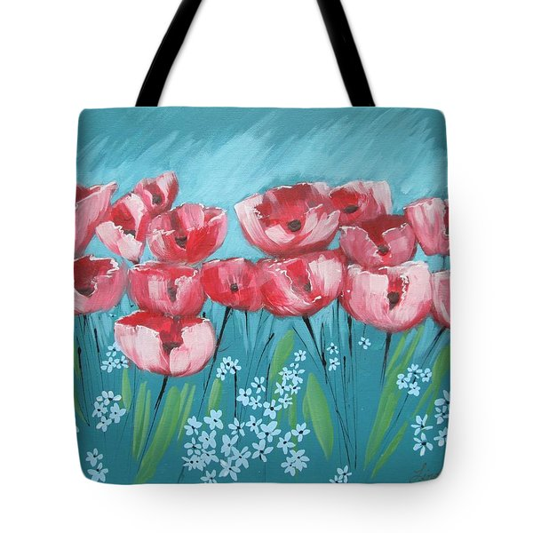 Brezzy Poppies Tote Bag