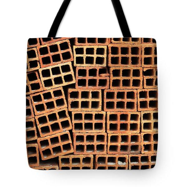 Brick Abstract Tote Bag by Vivian Christopher