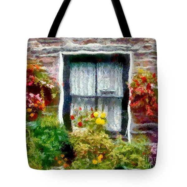 Brick And Blooms Tote Bag by RC deWinter