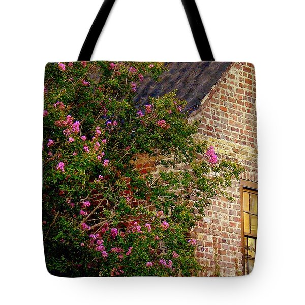 Tote Bag featuring the photograph Brick And Myrtle by Rodney Lee Williams