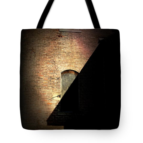 Brick And Shadow Tote Bag by Cynthia Lassiter