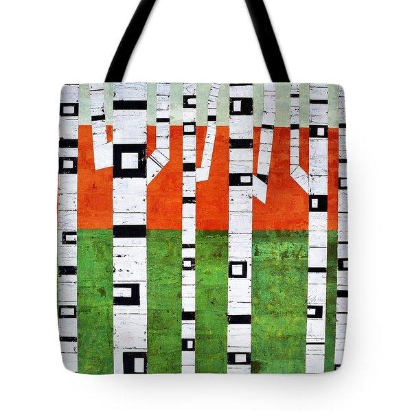 Brick Birches - Spring Tote Bag