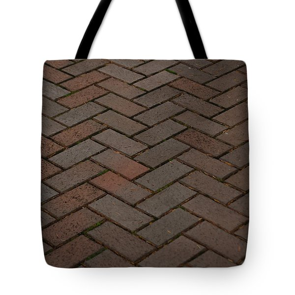Brick Pattern Tote Bag by Tikvah's Hope