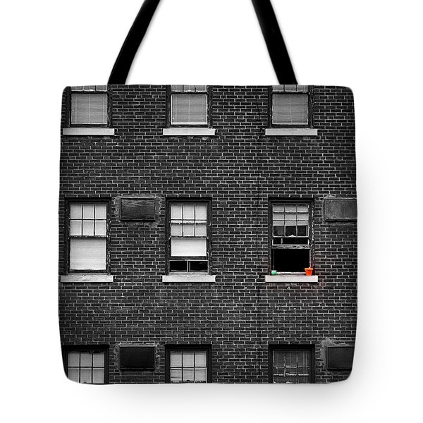 Brick Wall And Windows Tote Bag
