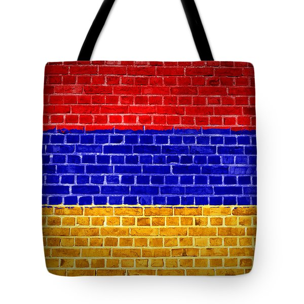 Brick Wall Armenia Tote Bag