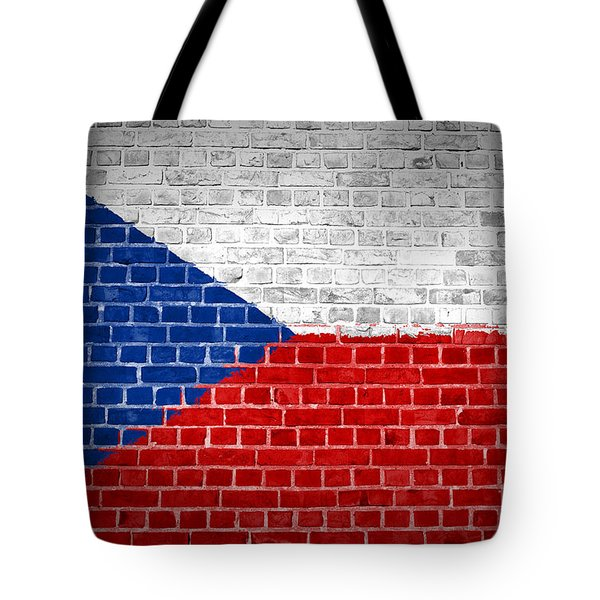 Brick Wall Czech Republic Tote Bag by Antony McAulay