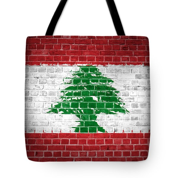 Brick Wall Lebanon Tote Bag