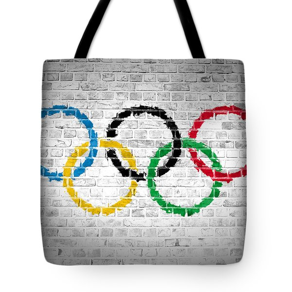 Brick Wall Olympic Movement Tote Bag
