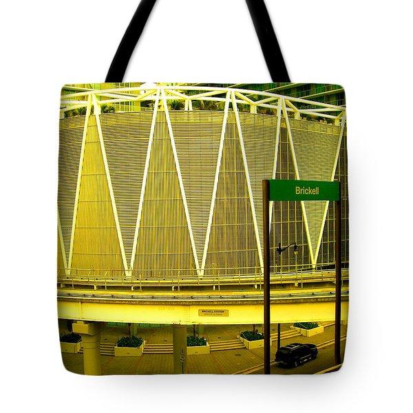 Brickell Station In Miami Tote Bag