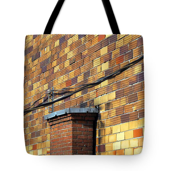 Bricks And Wires Tote Bag