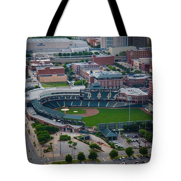 Bricktown Ballpark D Tote Bag by Cooper Ross