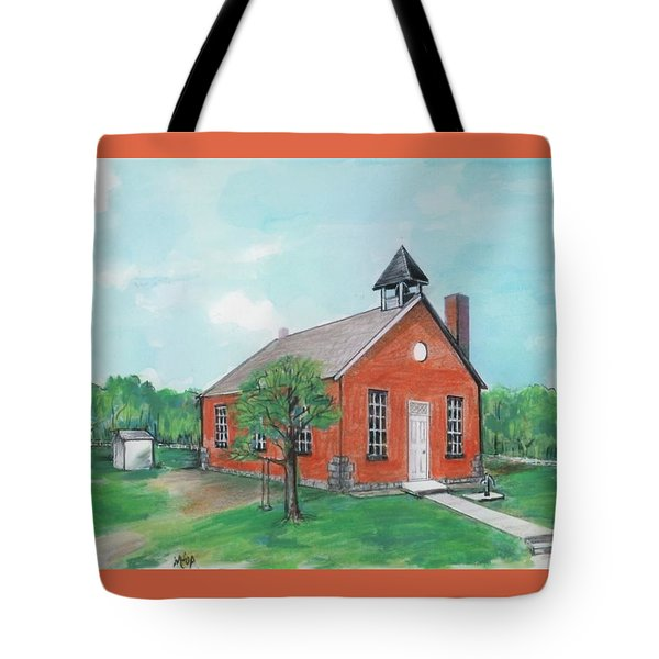 Bricktown School Tote Bag by Mary Armstrong