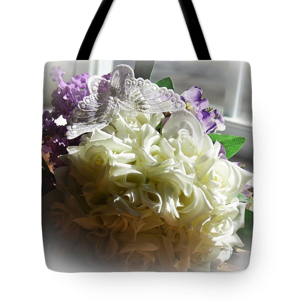 Bridal Butterfly Tote Bag by Theresa Johnson