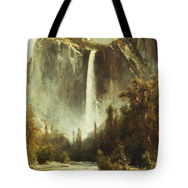 Bridal Falls Tote Bag by Thomas Hill
