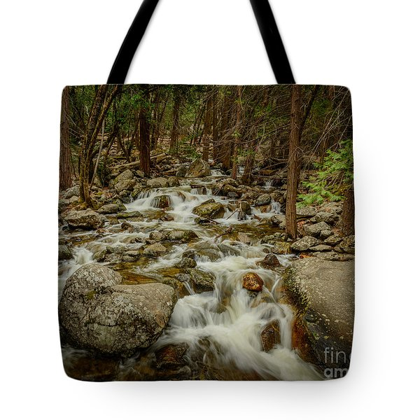 Bridalveil Creek In Yosemite Tote Bag
