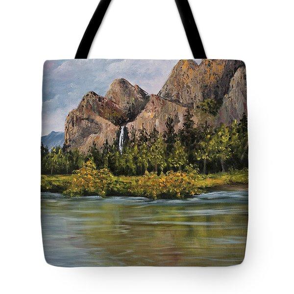Bridalveil Fall Yosemite Tote Bag