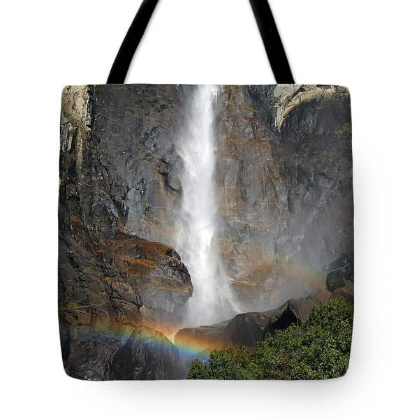 Bridalveil Falls No Sky Tote Bag by Debra Thompson